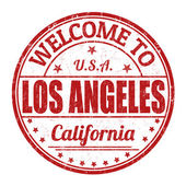 Welcome to Los Angeles stamp — Stock Vector