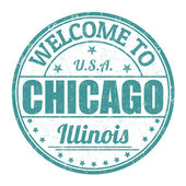 Welcome to Chicago stamp — Stock Vector