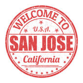 Welcome to San Jose stamp — Stock Vector