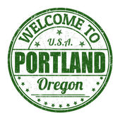 Welcome to Portland stamp — Stock Vector