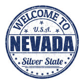 Welcome to Nevada stamp — Stock Vector