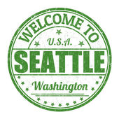 Welcome to Seattle stamp — Stock Vector