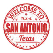 Welcome to San Antonio stamp — Stock Vector