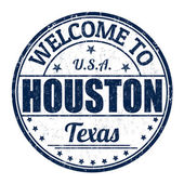 Welcome to Houston stamp — Stock Vector
