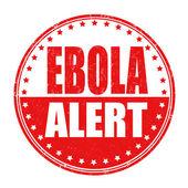 Ebola allert stamp — Stock vektor