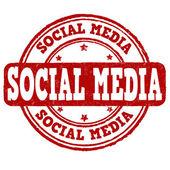 Social media stamp — Stock Vector