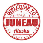 Welcome to Juneau stamp — Stock Vector