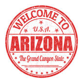 Welcome to Arizona stamp — Stock Vector