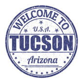 Welcome to Tucson stamp — Stock Vector