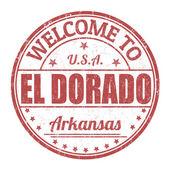 Welcome to El Dorado stamp — Stock Vector