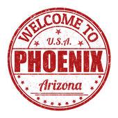 Willkommen bei Phoenix Markierung — Stockvektor