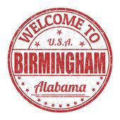 Welcome to Birmingham stamp — Stock Vector