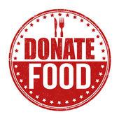 Donate food stamp — ストックベクタ