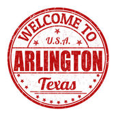 Welcome to Arlington stamp — Stock Vector