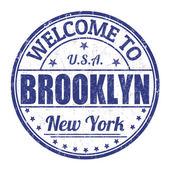 Welcome to Brooklyn stamp — Stock Vector