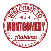 Welcome to Montgomery stamp — Stock Vector