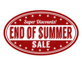 End of summer sale stamp — Stock Vector