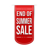 End of summer sale banner design — Stock Vector