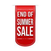 End of summer sale banner design — Stock Vector