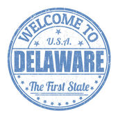 Welcome to Delaware stamp — Stock Vector