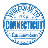 Welcome to Connecticut stamp — Stock Vector