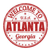 Welcome to Atlanta stamp — 图库矢量图片