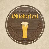 Oktoberfest, vintage poster — Stock Vector
