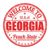 Welcome to Georgia stamp — Stock Vector