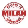 Welcome to Milan stamp — Stock Vector #51418451