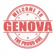 Welcome to Genova stamp — Stock Vector #51418587