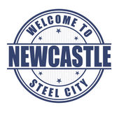 Welcome to Newcastle stamp — Stock Vector