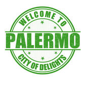Welcome to Palermo stamp — Stock Vector