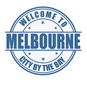 Welcome to Melbourne stamp — Stock Vector