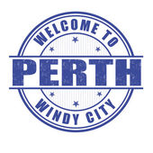 Welcome to Perth stamp — Stock Vector