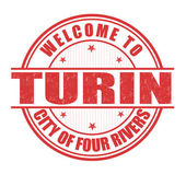 Welcome to Turin stamp — Stock Vector