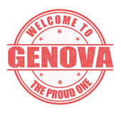 Welcome to Genova stamp — Stock Vector
