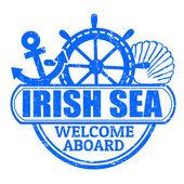 Irish Sea stamp — Stock Vector
