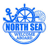 North Sea stamp — Vetorial Stock