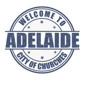 Welcome to Adelaide stamp — Stock Vector