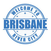 Welcome to Brisbane stamp — Stock Vector