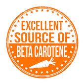 Excellent source of beta carotene stamp — Stock Vector