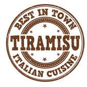 Tiramisu stamp — Stock Vector