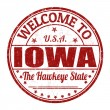 Welcome to Iowa stamp — Stock Vector #51693993