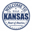 Welcome to Kansas stamp — Stock Vector