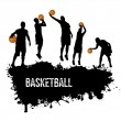Grunge basketball poster — Stock Vector