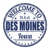 Welcome to Des Moines stamp — Stock Vector