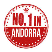 Number one in Andorra stamp — Stock Vector
