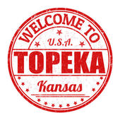 Benvenuti al timbro di topeka — Vettoriale Stock