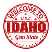Welcome to Idaho stamp — Stock Vector