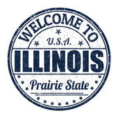 Welcome to Illinois stamp — Stock Vector